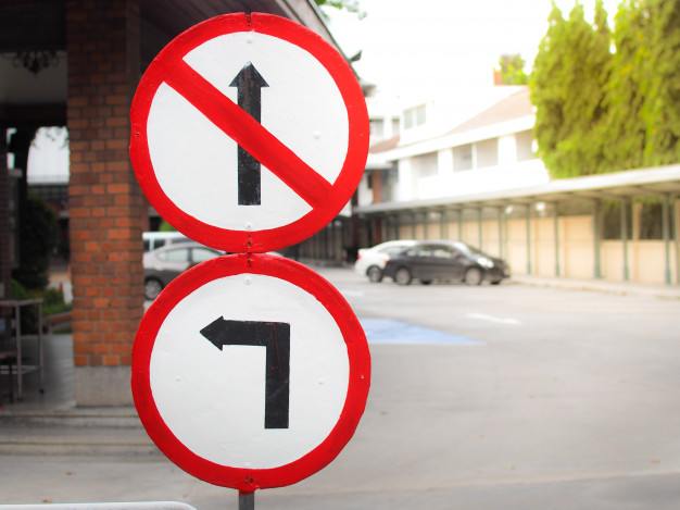 two traffic signs